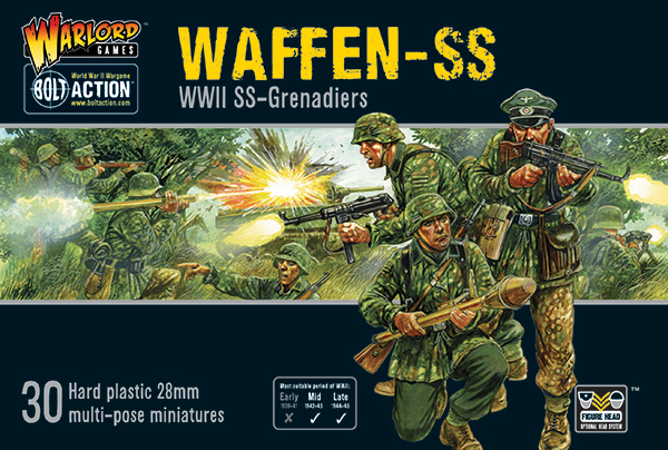 Box Cover of Bolt Action Plastic Waffen-SS