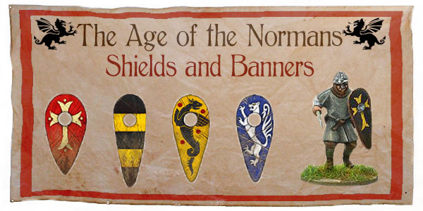 New Hail Caesar Age of the Normans Shields and Banners