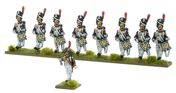 New Black Powder Napoleonic French Imperial Guard Corps of Drums