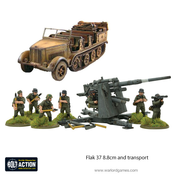Flak 37 8.8cm and Transport Bundle