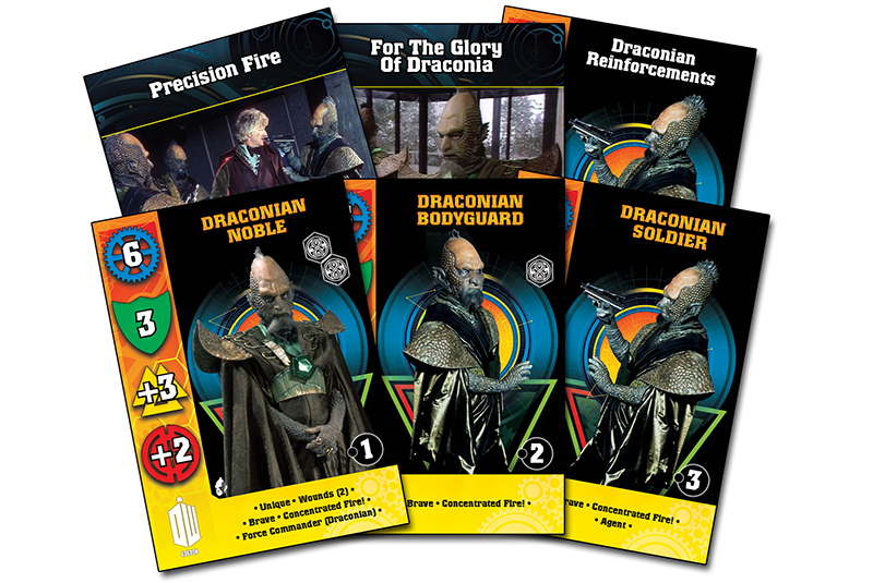 New Doctor Who Draconians Card Set