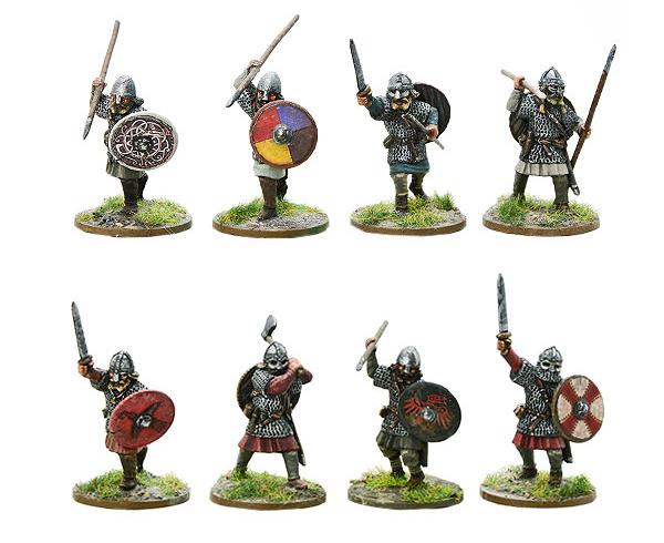Models of Hail Caesar Viking Hirdmen A