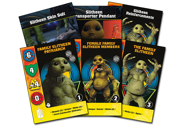 New Doctor Who Slitheen Card Set