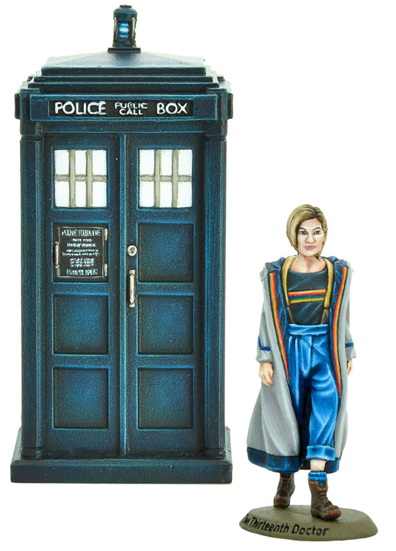 New Doctor Who Thirteenth Doctor and TARDIS