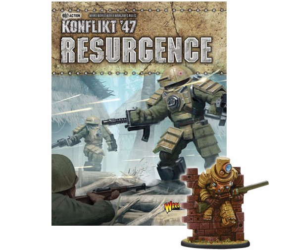 Konflikt'47 Resurgence supplement with special ghost miniature