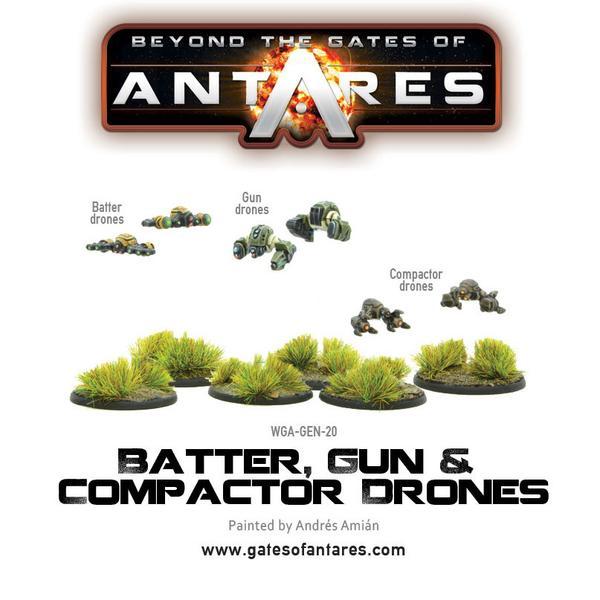 Batter, Gun & Compactor Drones