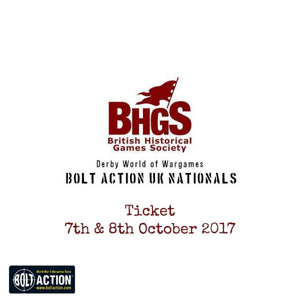 Ticket to Bolt Action National Tournament