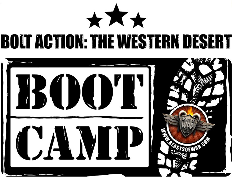 Beasts of War Western Desert Boot Camp logo