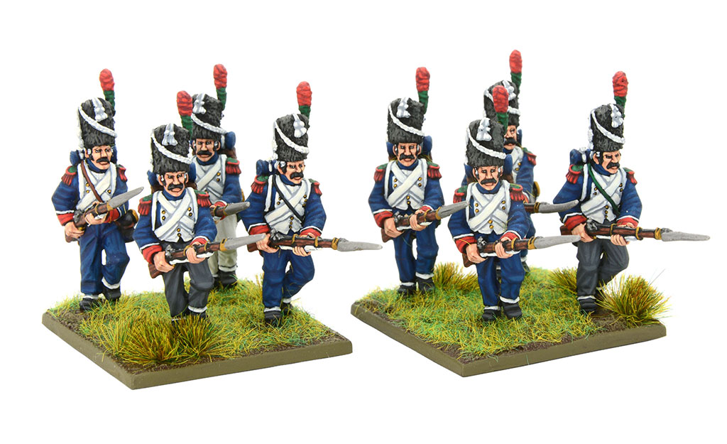 New Black Powder Napoleonic French Chassuers a pied of the imperial guard
