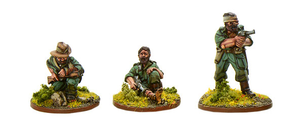 Models of Bolt Action Wounded Chindit