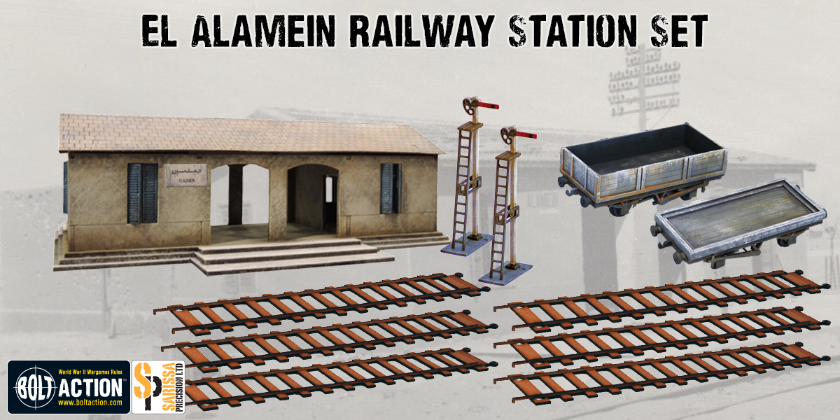 New Sarissa Precision El Alamein Railway Station Set