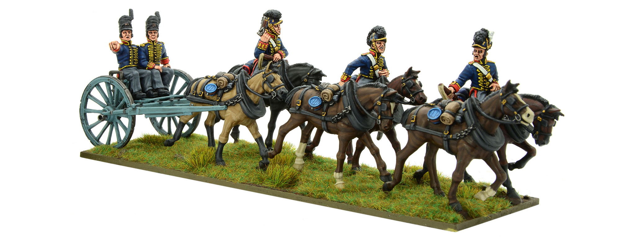 New Black Powder Napoleonic British Royal Artillery Limber