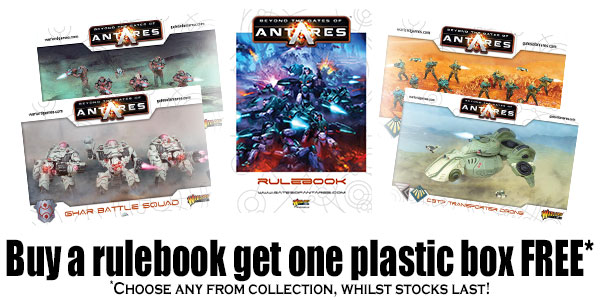 Buy the Gates Of Antares Rulebook Get One Plastic Box Free Banner