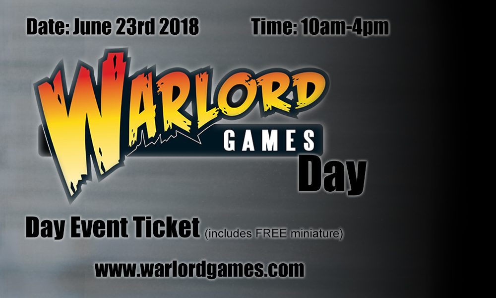 Warlord Games Open Day ticket 23rd June 2018