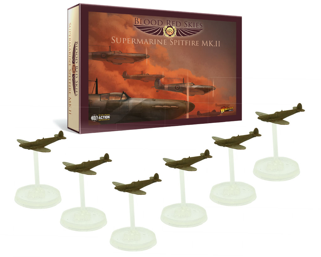 New Blood Red Skies British Spitfire Squadron
