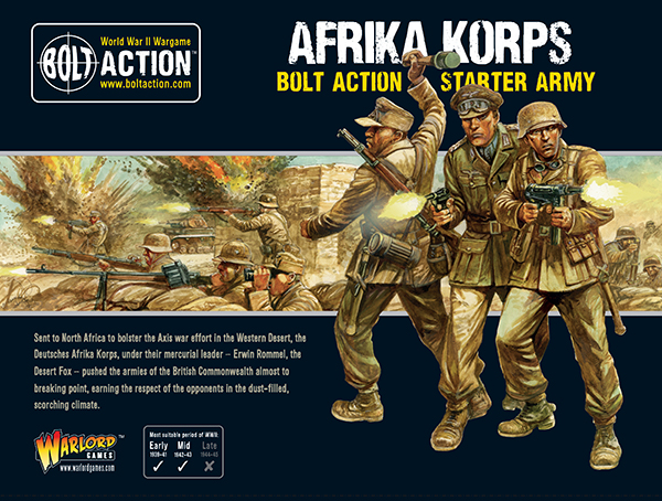 New Bolt Action German Afrika Korps Starter Army
