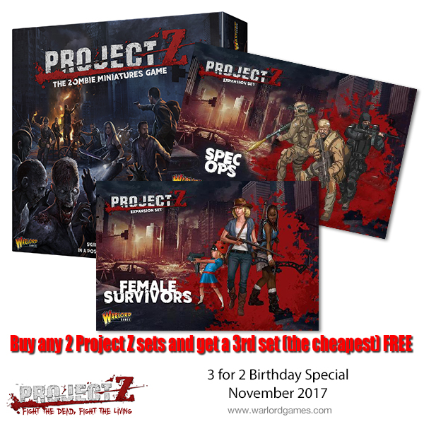 Buy any 2 Project Z sets and get a 3rd FREE