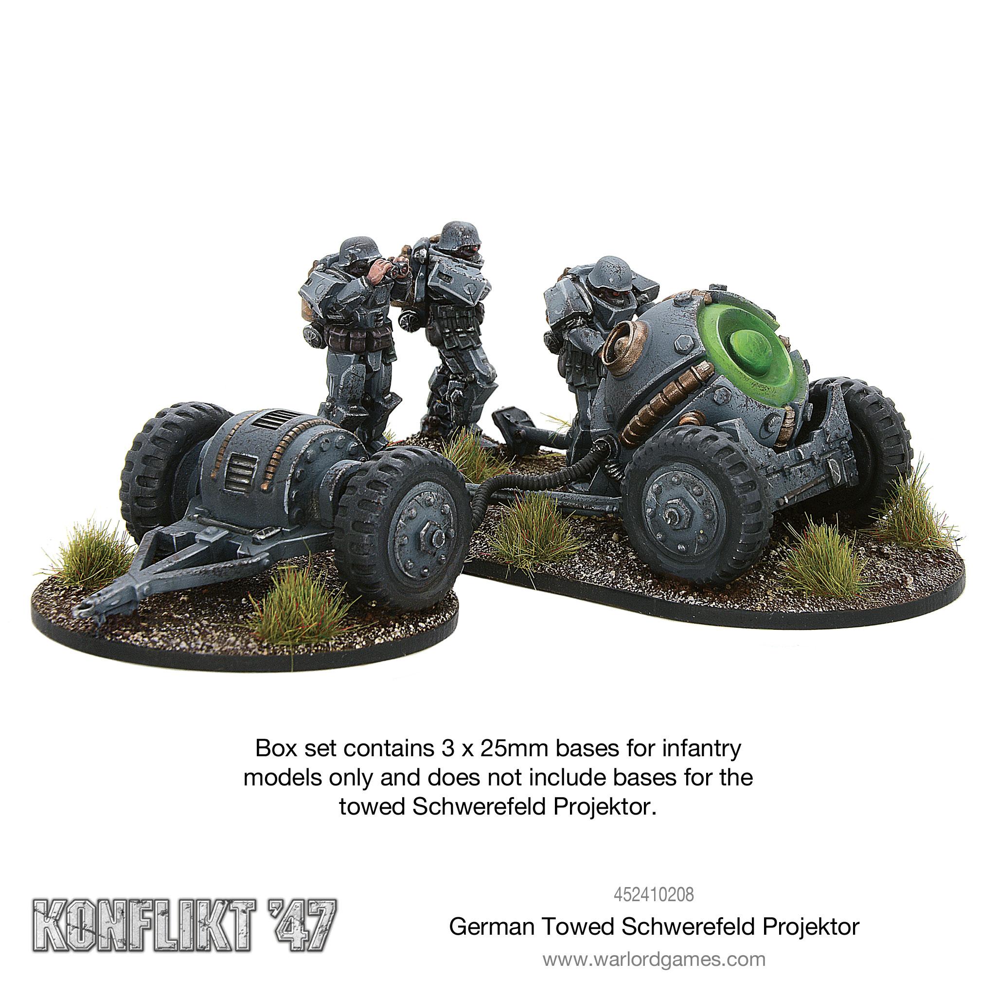 Coming Soon Konflikt '47 German Towed Schwerefeld Projektor