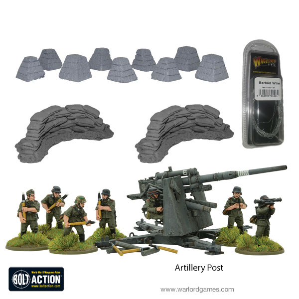 Flak 37 8.8cm Artillery Post