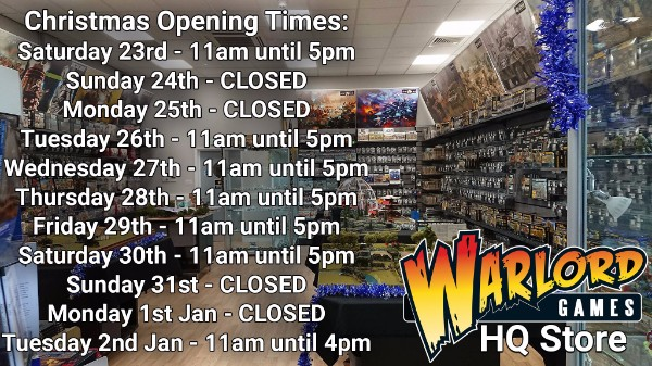 HQ Store Christmas Opening Times