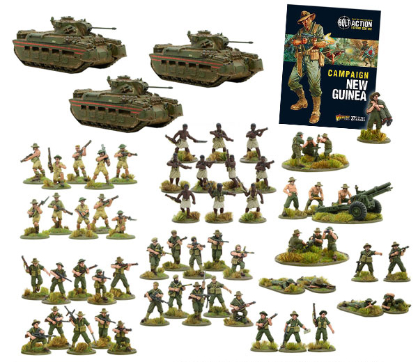 New Bolt Action Australians Warlordre Pete's Australian 1250 point Army sET