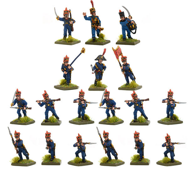New Black Powder Napoleonic French Marines of the Guard Regiment
