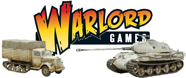 Warlord Logo with Plastic Maultier and Plastic King Tiger