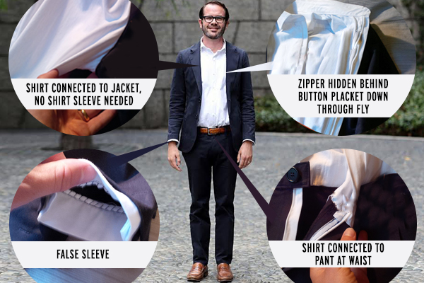 The Suitsy, A Business-Suit Onesie