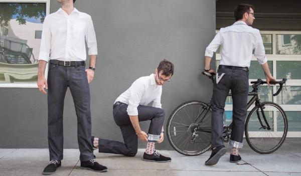 Gray Bike to Work Britches