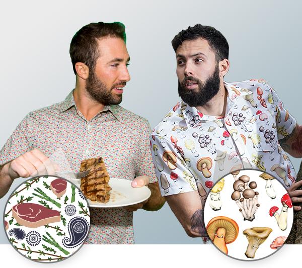 New Paisley Steak & Shroom Shirts