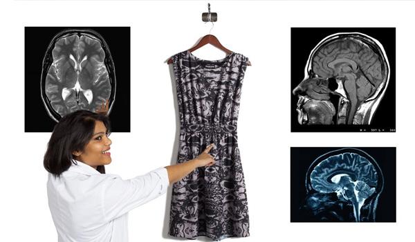 Brain-Scan Dress
