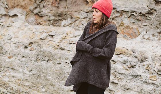 Black-Sheep Wrap Sweater