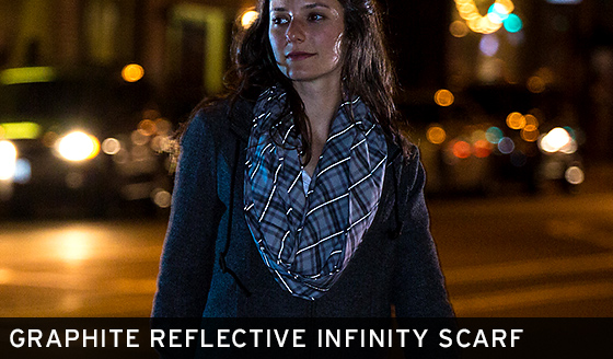 Graphite Reflective Infinity Scarf