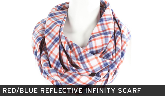 Red/Blue Reflective Infinity Scarf