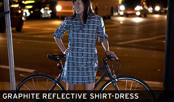 Graphite Reflective Shirt-Dress