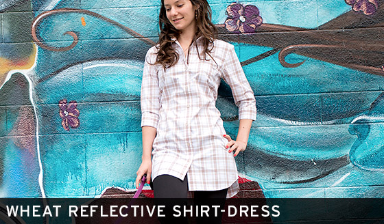 Wheat Reflective Shirt-Dress
