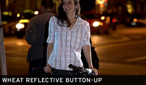 Wheat Reflective Button-Up