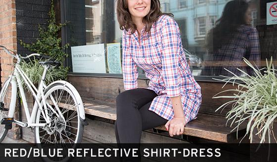 Red/Blue Reflective Shirt-Dress