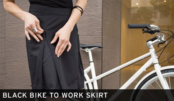 Black Bike to Work Skirt