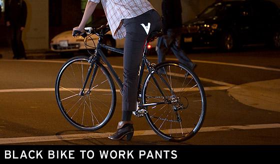 Black Bike to Work Pants
