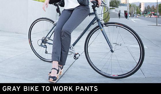 Gray Bike to Work Pants