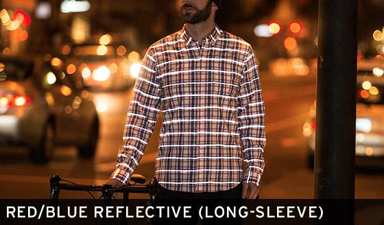 Red/Blue Reflective Shirt (Long-Sleeve)