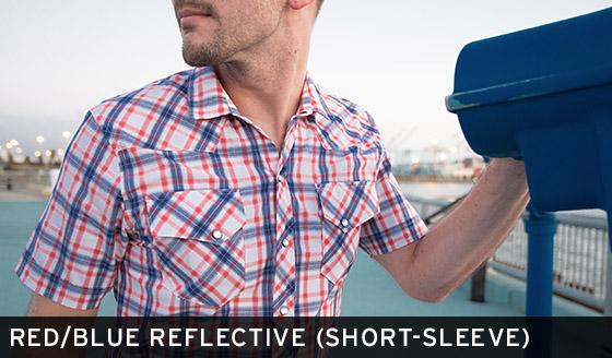 Red/Blue Reflective Shirt (Short-Sleeve)