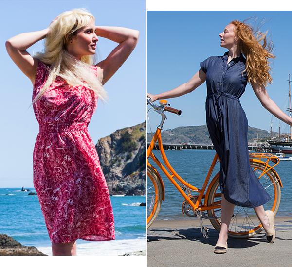 Mermaid-Paisley Perfect Dress, Londonderry Shirt-Dress