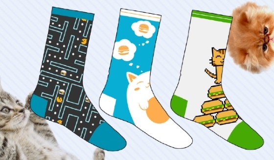Cheezburger Socks (3-Pack)