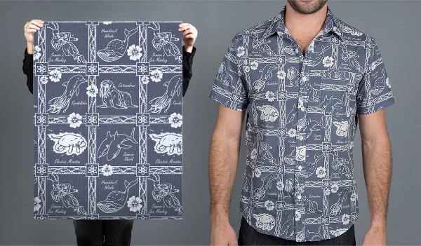 Nuclear-Fishion Button-Up Shirt