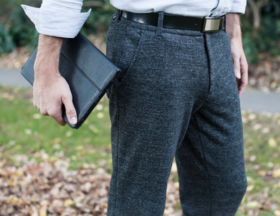 Gray-Static Dress Pant Sweatpants by Betabrand