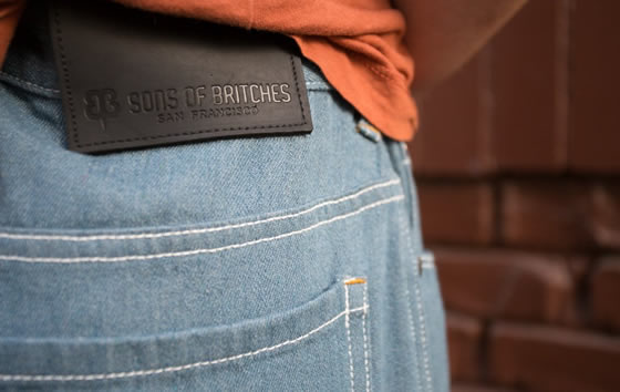 Mirage Sons of Britches pants fabric detail shot