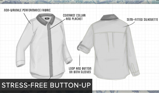 Stress-Free Button-Up