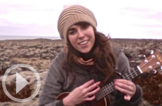 Model Citizen Clare Eilund sings and plays her ukulele in Iceland.